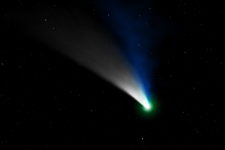 Drawing of a comet