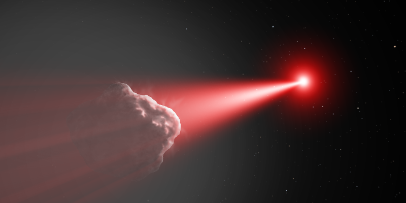 Comet deflection by laser heating